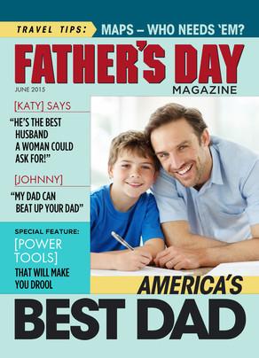 Fathers Day Magazine 5x7 Folded Card