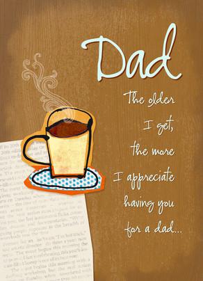 Coffee with Dad 5x7 Folded Card