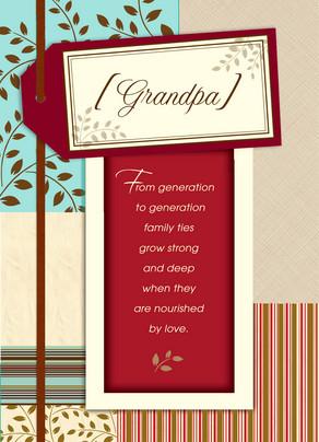Grandpa Poem 5x7 Folded Card