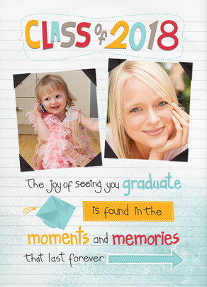 Notebook Class of 2018 5x7 Folded Card