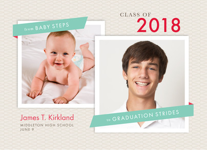 From Baby Steps to Grad Strides 7x5 Flat Card