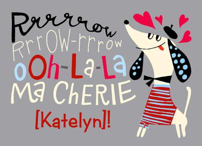 Ma Cherie 7x5 Folded Card