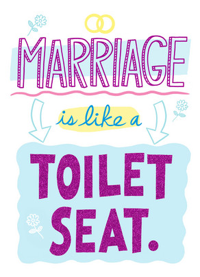 Marriage Toilet Seat Happy Anniversary Card Cardstore