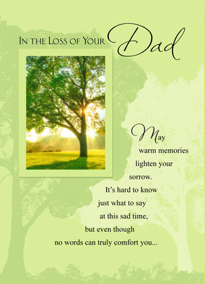 Dad Loss 5x7 Folded Card
