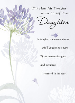 Daughter Loss 5x7 Folded Card