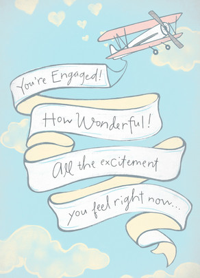 Helicopter Engagement Banner 5x7 Folded Card