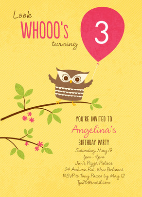 Wise Owl Birthday 5x7 Flat Card