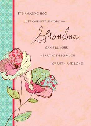 Flowers For Grandma Happy Birthday Card