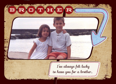 brother arrow frame 7x5 folded card