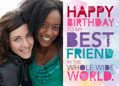 Birthday Cards Wishes For Best Friend ~ Bright best friend frame happy birthday card cardstore