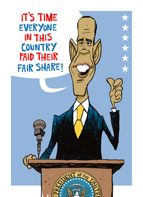 Obama Fair Share 5x7 Folded Card