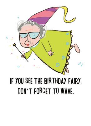 Birthday Fairy 5x7 Folded Card