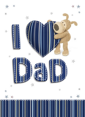 Boofle Hearts Dad 5x7 Folded Card