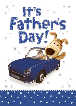 Boofle Dads Car 5x7 Folded Card