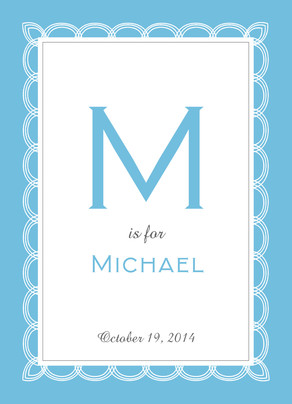 Blue Ribbon Frame 5x7 Folded Card