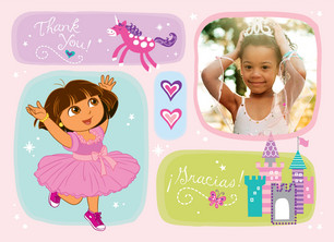 Dora the Princess 5.25x3.75 Folded Card