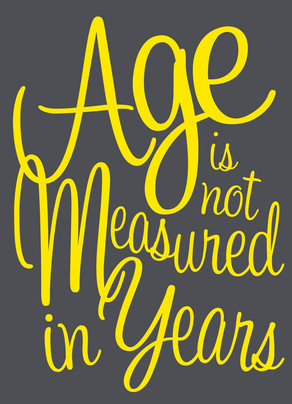 Age Is Not Years 5x7 Folded Card
