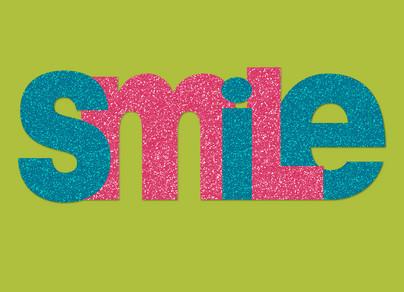 Sparkle Smile 7x5 Folded Card