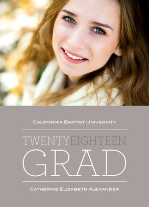 Gray Twenty Fifteen Grad 5x7 Flat Card