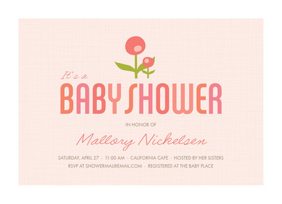 Pink Flower Baby 7x5 Flat Card