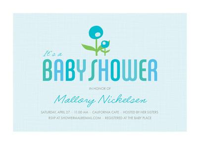 Blue Flower Baby 7x5 Flat Card