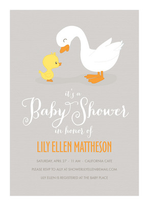 Gray Duck Baby 5x7 Flat Card