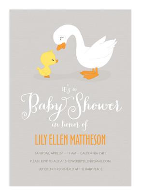Gray Duck Baby 5x7 Flat Card