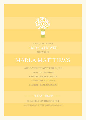 Yellow Bridal Bouquet 5x7 Flat Card