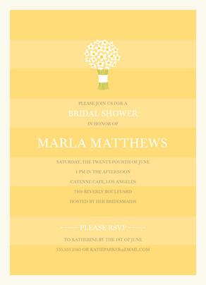 Yellow Bridal Bouquet 5x7 Flat Card