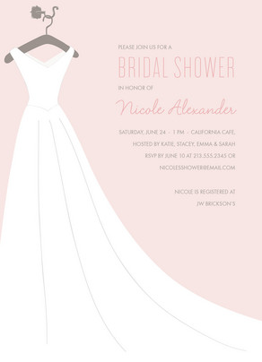 Pink Bridal Dress 5x7 Flat Card
