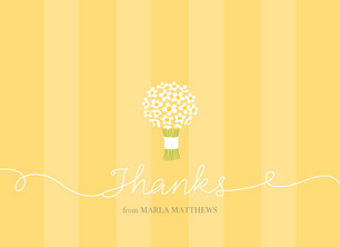 Yellow Bouquet Thanks 5.25x3.75 Folded Card
