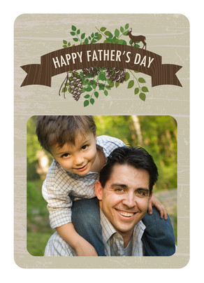 Natural Fathers Day 5x7 Folded Card