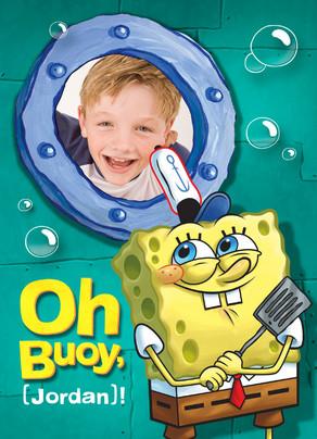 Oh Buoy Spongebob 5x7 Folded Card