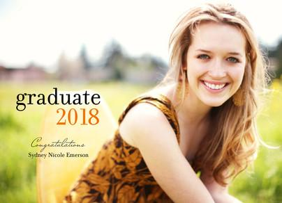 Graduate 2017 7x5 Folded Card