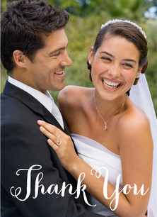 Thank You Overlay 3.75x5.25 Folded Card