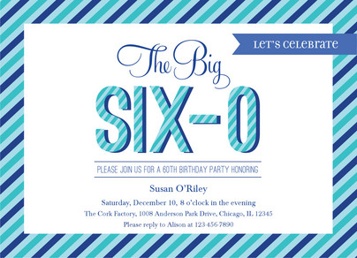 Big Six O 7x5 Flat Card