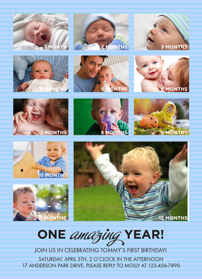 Blue Amazing Year 5x7 Flat Card
