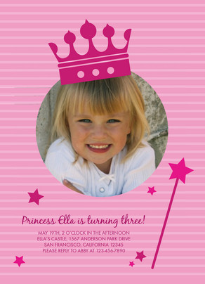 Princess Crown 5x7 Flat Card