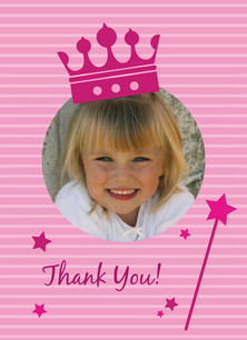 Princess Photo Thanks 3.75x5.25 Folded Card