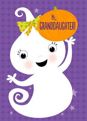 Ghost Granddaughter 5x7 Folded Card