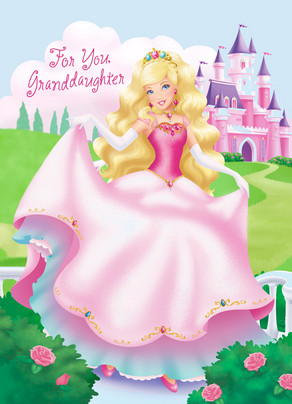 Princess Granddaughter 5x7 Folded Card