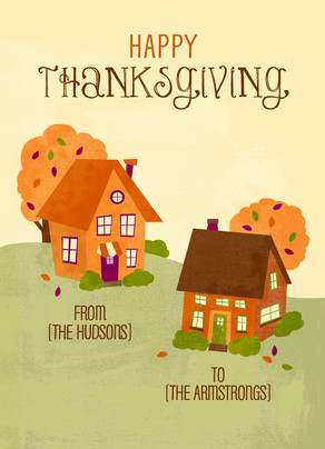 Thanksgiving Homes 5x7 Folded Card