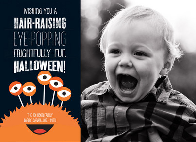 Frightfully Fun Halloween 7x5 Flat Card