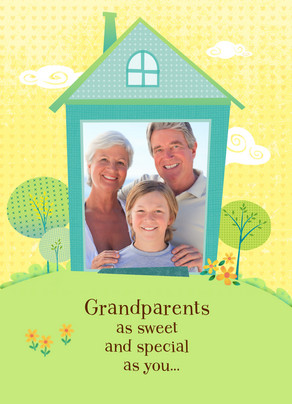Grandparents Home 5x7 Folded Card