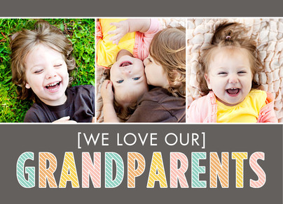 Love Grandparents 7x5 Folded Card
