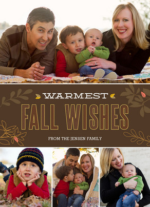 Warmest Fall Wishes 5x7 Flat Card