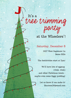 Tree Trimming Party Christmas Invitation | Cardstore