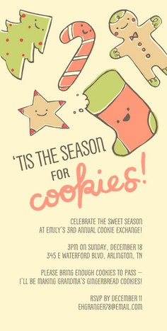 Holiday Sugar Cookies 4x8 Flat Card