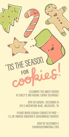 Holiday Sugar Cookies 4x8 Flat Card