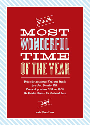 Most Wonderful Time 5x7 Flat Card